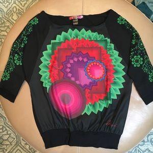 DESIGUAL blouse sz M